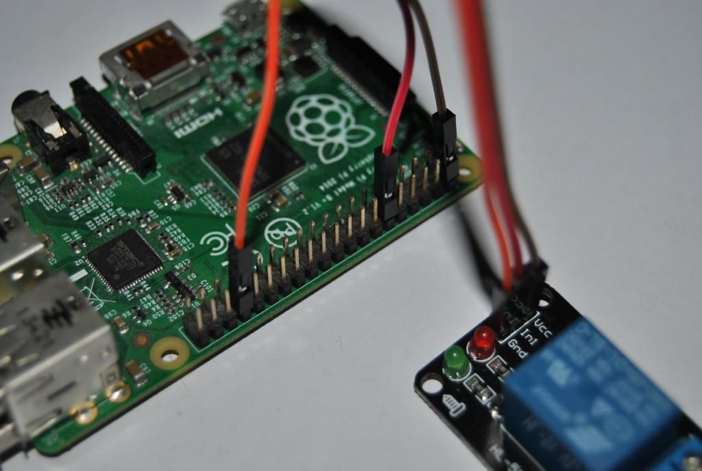 Pripojenie relátka na Raspberry Pi