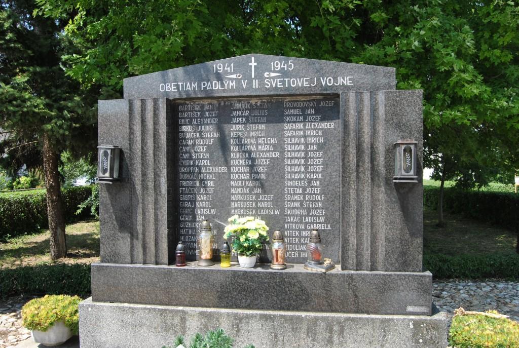 Palárikovo - pamätník 2. svetovej vojny