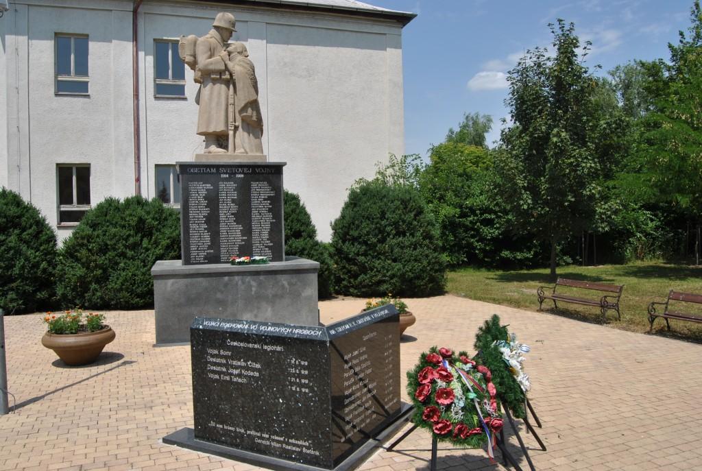 Palárikovo - pamätník 1. svetovej vojny