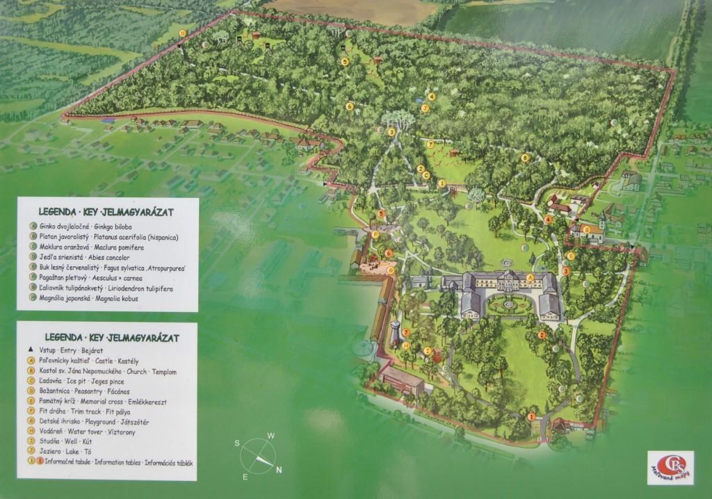 Palárikovo - mapa